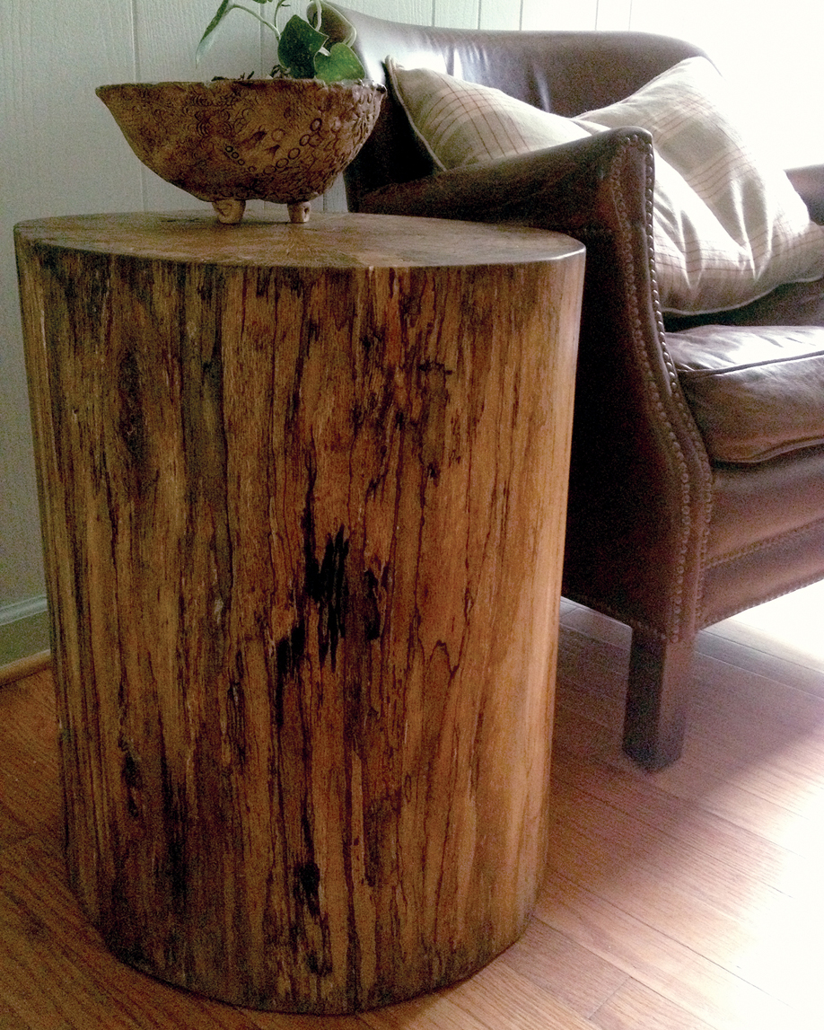 Tree Stump Side Table